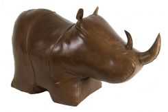 Authentic Models Doorstop Rhino XL in Leather