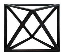 Authentic Models Elevated Tetrahedron In Black