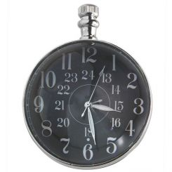 Authentic Models Eye Of Time Clock, Chrome