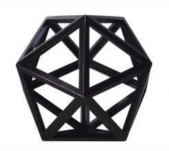 Authentic Models Icosahedron In Black
