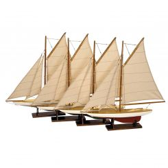 Authentic Models Mini Pond Yachts, Set Of 4