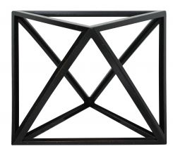 Authentic Models Octahedron In Black