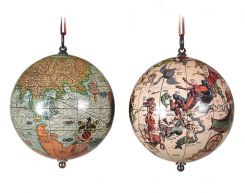 Authentic Models Pair Of Heaven And Earth Globes