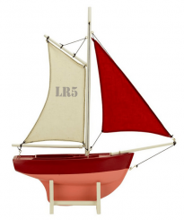 Authentic Models Red Sailer Boat