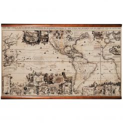 Authentic Models Reproduction New World Map
