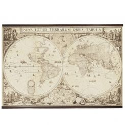 Authentic Models Reproduction World Map 1660
