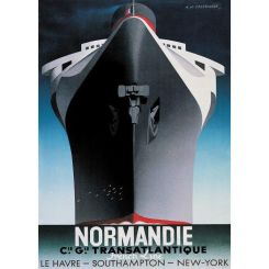 Authentic Models Poster of S.s. Normandie
