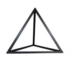 Authentic Models Tetrahedron In Black