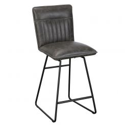 Pavilion Chic Bar Stool Cooper in Grey PU Leather