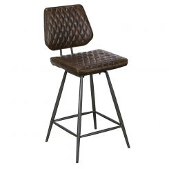 Pavilion Chic Bar Chair Dalton in Brown PU Leather