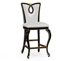 Jonathan Charles Bar Stool Biedermeier in Black