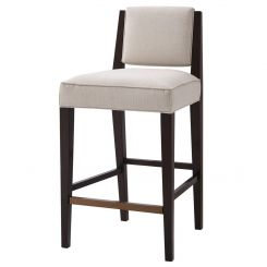 Theodore Alexander Bar Stool Finn in Oyster