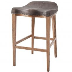 Theodore Alexander Bar Stool Gilford in Leather
