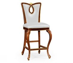 Jonathan Charles Bar Stool Biedermeier in Mahogany