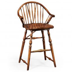 Jonathan Charles Stool Windsor Style in Walnut
