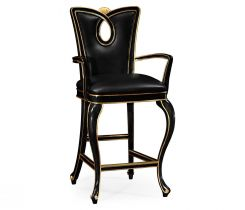 Jonathan Charles Bar Chair Biedermeier in Black