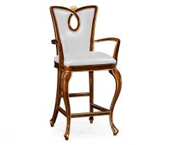 Jonathan Charles Bar Chair Biedermeier in Mahogany