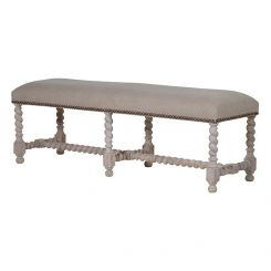 Pavilion Chic Bench Norwich with Linen Seat