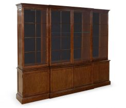 Jonathan Charles Bookcase Cabinet George III Imperial Mahogany Large