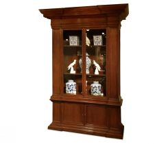 Jonathan Charles Bookcase Single Venetian English Mahogany