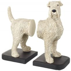 Parlane Bookends Fox Terrier White H.26cm