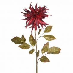 Pavilion Flowers Artificial Dahlia Burgundy Height 76cm