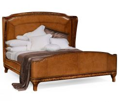 Jonathan Charles Duchess King Bed Louis Xv Style In Burl And Mother Of Pearl