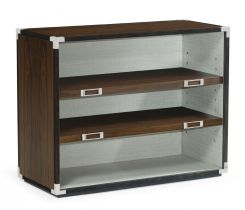 Jonathan Charles Bookcase Military in Santos Rosewood