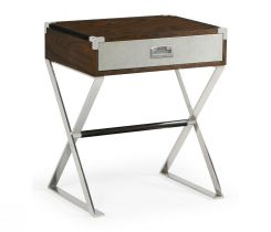 Jonathan Charles Bedside Table Military in Santos Rosewood