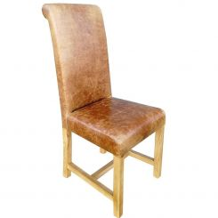 Carlton Furniture Rollback Dining Chair Windermere in Leather