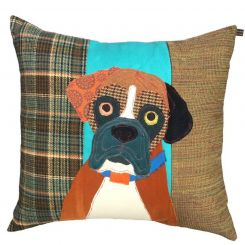 Carola Van Dyke Cushion Bertie The Boxer