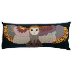 Carola Van Dyke Cushion Flying Owl