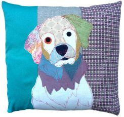 Carola Van Dyke Cushion George the Golden Retriever