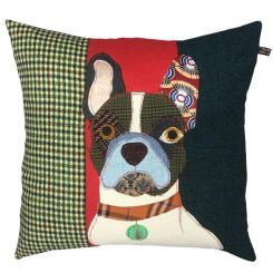 Carola Van Dyke Cushion Pierre The French Bulldog
