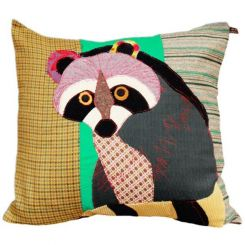 Carola Van Dyke Cushion Raccoon