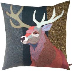 Carola Van Dyke Cushion Red Buck