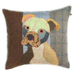 Carola Van Dyke Cushion Simone The Stafford Bull Terrier