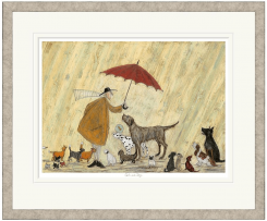 Pavilion Art Cats and Dogs by Sam Toft - Remarqued & Limited Edition Framed Print