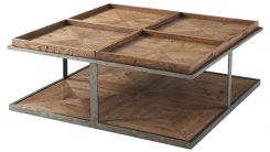 Theodore Alexander Coffee Table Quattor - Echo Oak