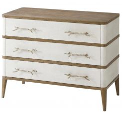 Theodore Alexander Chest of Drawers Brandon - Champagne Textured Coral