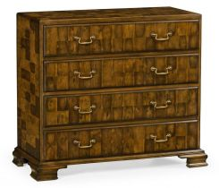Jonathan Charles Chest of Drawers Chippendale Honey Walnut