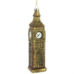 Pavilion Broadway Christmas Tree Decoration Big Ben Glass Height 12cm