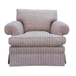 Duresta Clearance Chair Stamford in Haddon Narrow Stripe Brick Red