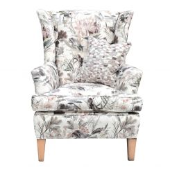 Duresta Clearance Wing Chair Grafton in Water Garden Blush