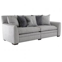 Duresta Greenwich Grand Split Sofa in Traccia Herringbone Cadet Blue