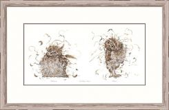 Pavilion Art Coffee Owl by Aaminah Snowdon - Limited Edition Framed Print