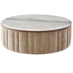 Theodore Alexander Coffee Table Allure Attraction II -  White Marble Top