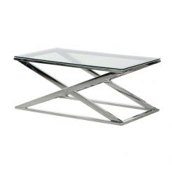 Pavilion Chic Coffee Table Fort in Stainless Steel