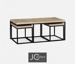 Jonathan Charles Nesting Coffee Table Wrought Iron