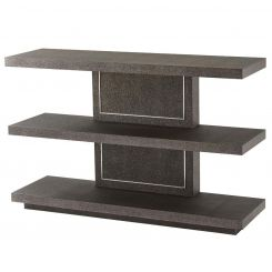 Theodore Alexander Console Table Shagreen Embossed